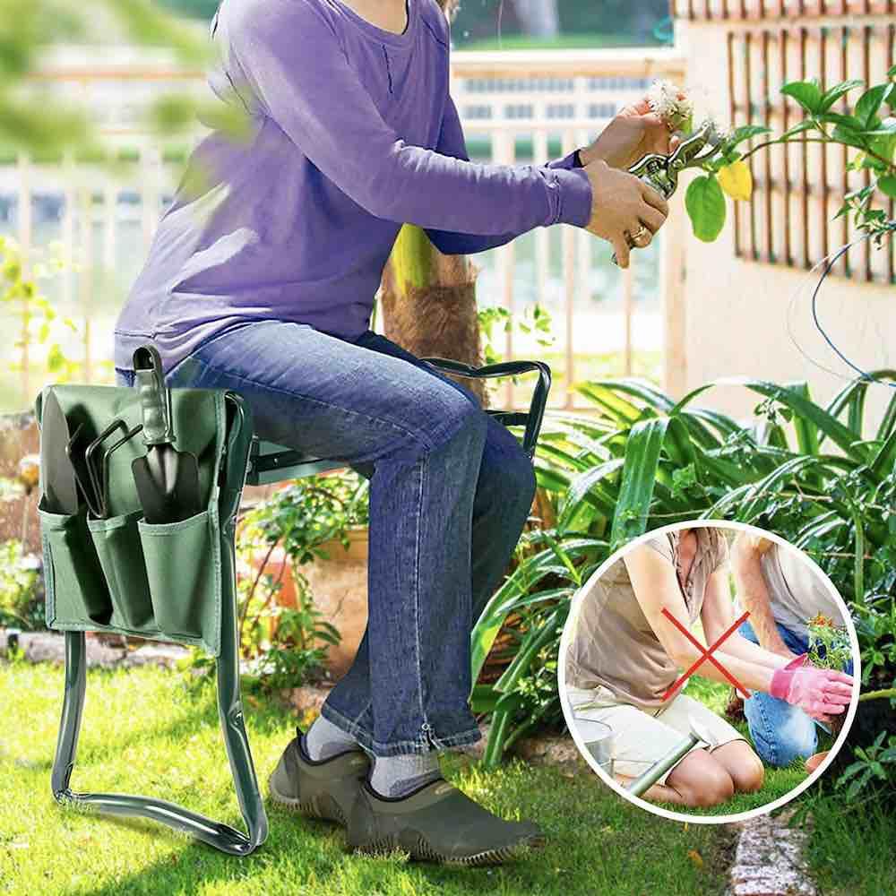 best foldable garden kneeler seat