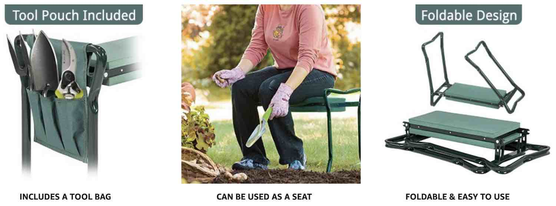 best gardening kneeler and seat