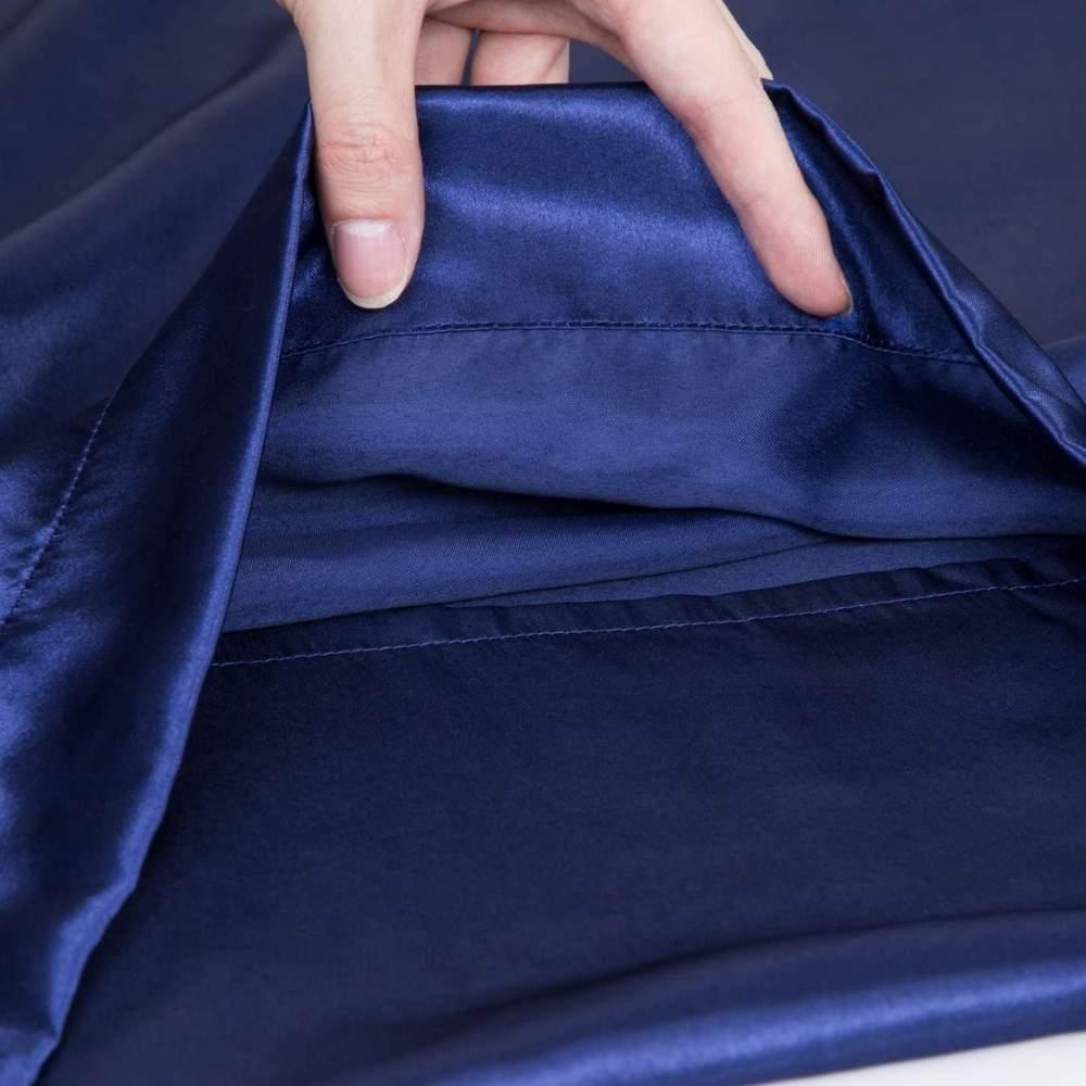 buy blue sateen pillow slip