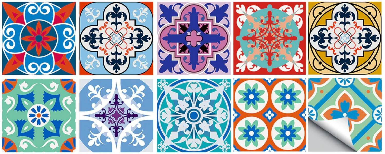 buy diy adhesive tile decals online