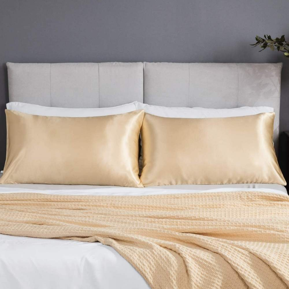 buy gold satin pillow cases