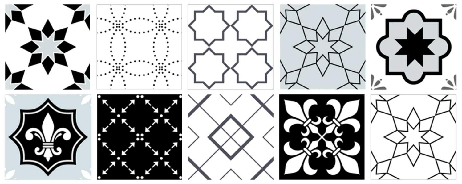 buy patterned surface tile stickers online