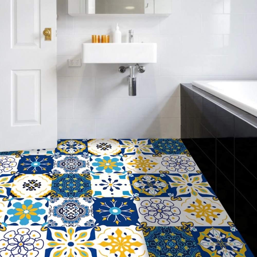 buy self adhesive bathroom floor tile stickers online